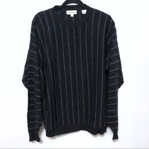 Pronto Uomo crewneck sweater black stripe